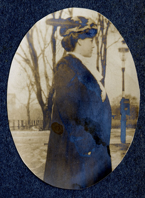 """Photograph of a woman"" in Daisie Miller Helyar, Item #162 in the Notable Women of Simmons series"