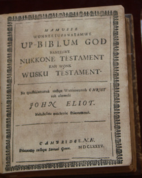 title page of the Eliot Bible