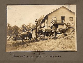 """Farm work in an A.M.A. school"", image courtesy of the Amistad Research Center at Tulane University and the Louisiana Digital Library"