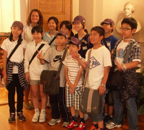 Doshisha students in our reading room, 8 June 2012