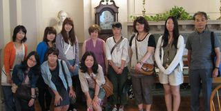 visitors from Doshisha Women's College, 21 Aug. 2012