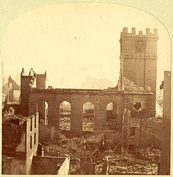 Trinity Church after the Great Boston Fire of 1872