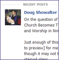 excerpt from one of Rev. Showalter's recent Facebook posts