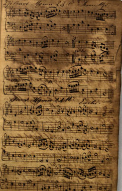Hymns from a manuscript attributed to John Wesley