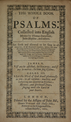 Bay Psalm Book title page