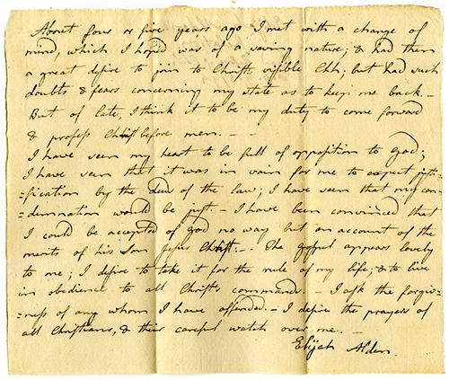 relation of Elijah Alden at Middleborough, 1794 -- click to enlarge