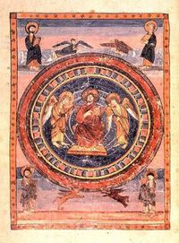 Ceolfrith Bible illumination