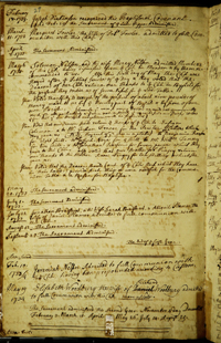 page from the Georgetown First Church records