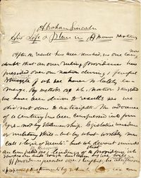 first page of Fisk's sermon on Lincoln