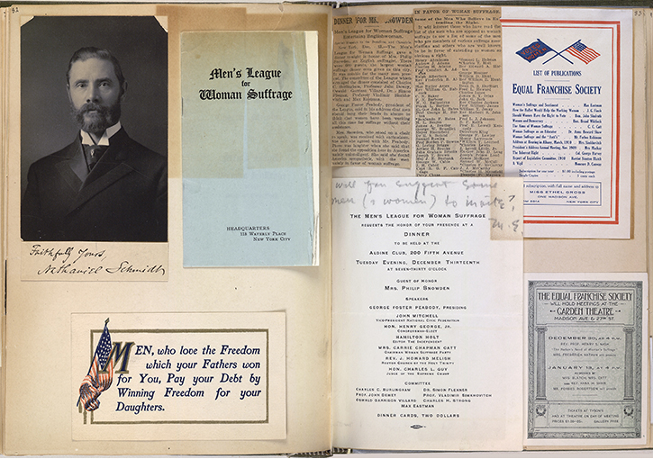 """Scrapbook Shows Women Seeking Equal Rights"" at myloc.gov"