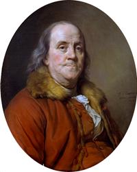 Benjamin Franklin portrait (1778) by Joseph-Siffrein Duplessis