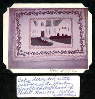Murlin Heights Church 125th anniversary cake