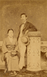 Niijima Yae and Jo, ca. 1876