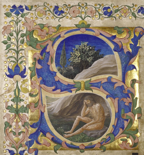 """Initial S: Job"" by Francesco di Antonio del Chierico"