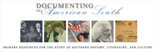 """Documenting the American South"" splash image"